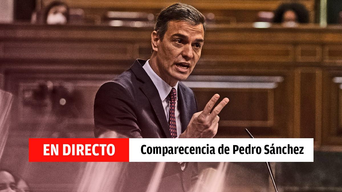 Pedro Sánchez informa sobre el estado de alarma, última hora en directo.