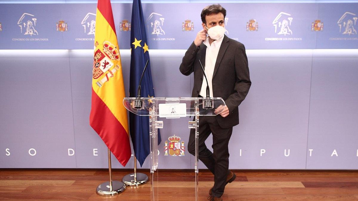 Jaume Asens, presidente del Grupo Parlamentario de Unidas Podemos.