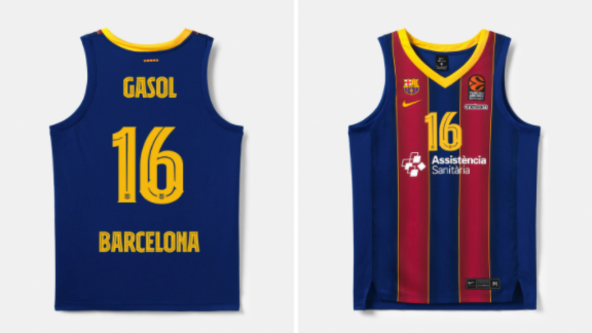 La camiseta de Pau Gasol sale a 110 euros a la venta.