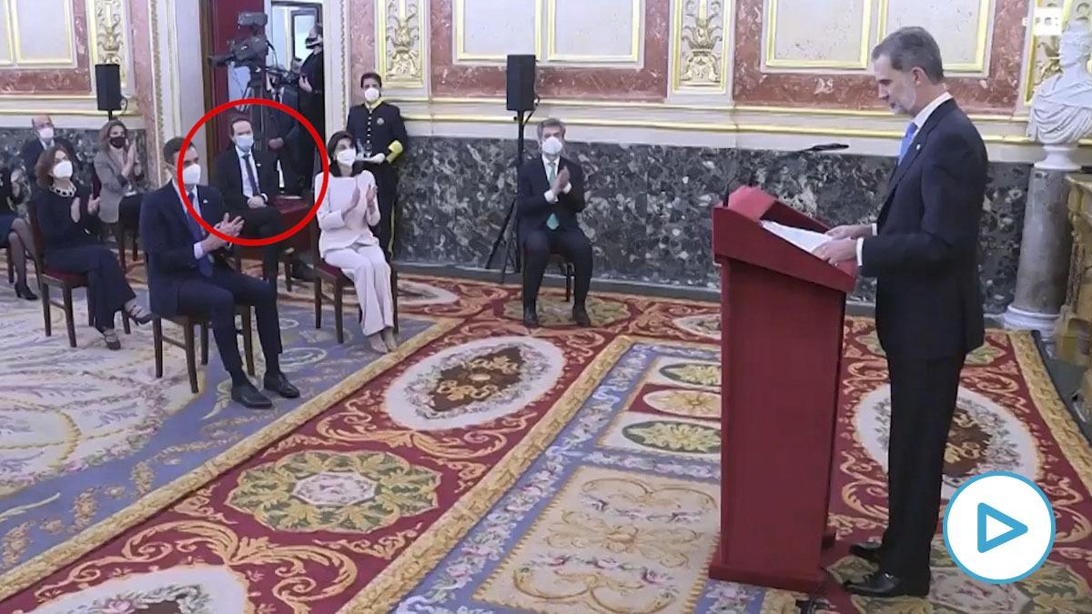 Pablo Iglesias, en el acto por el 23-F en el Congreso.