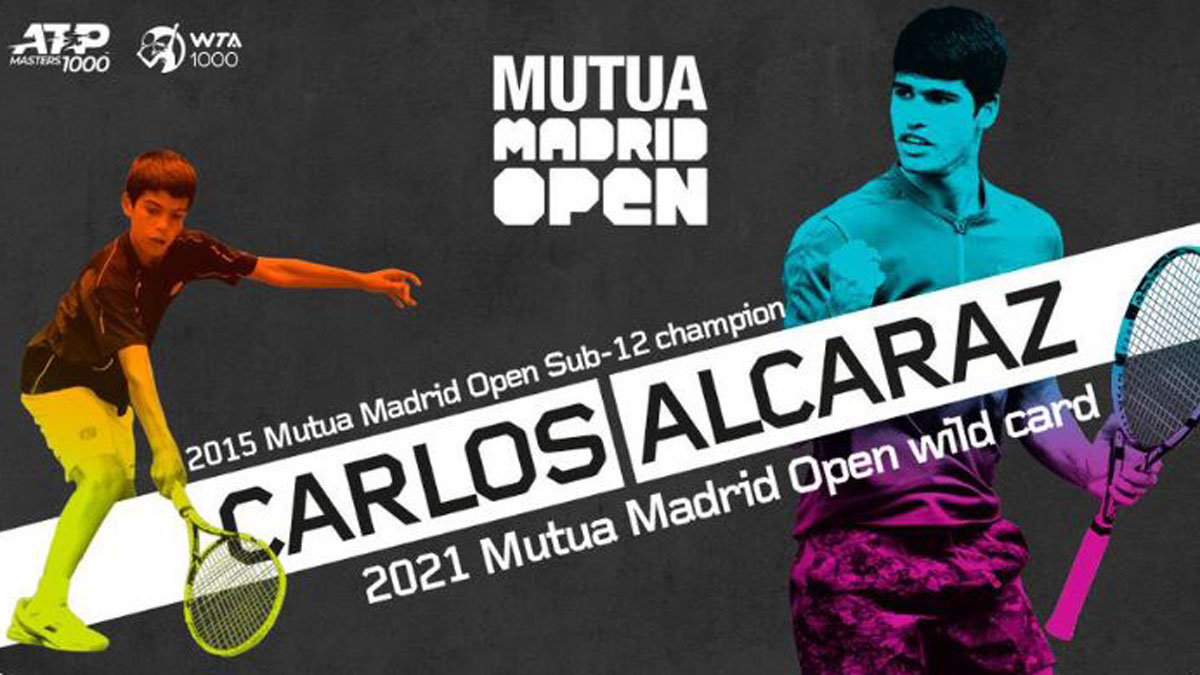 Carlos Alcaraz recibe la invitación del Mutua Madrid Open (Mutua Madrid Open)