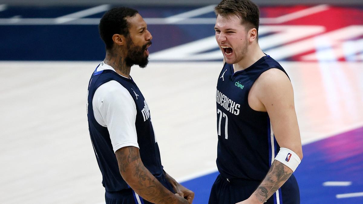 Doncic celebra una victoria en la NBA. (Getty)