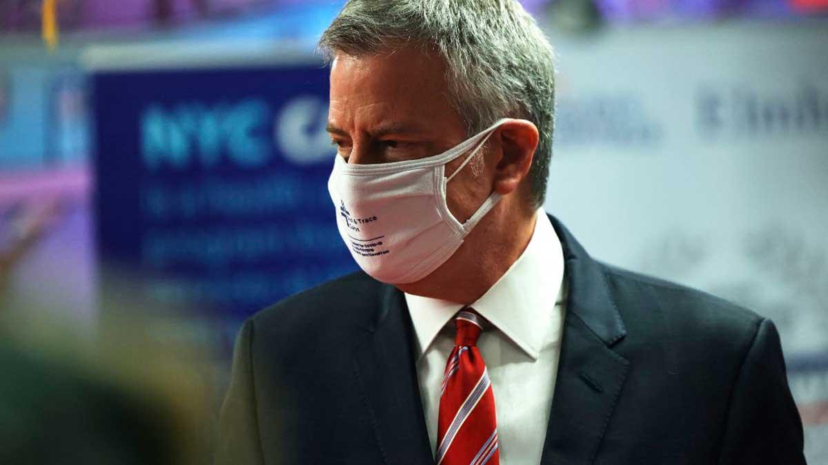 El alcalde de Nueva York, Bill de Blasio. Foto: AFP