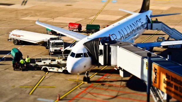 Avión en tierra