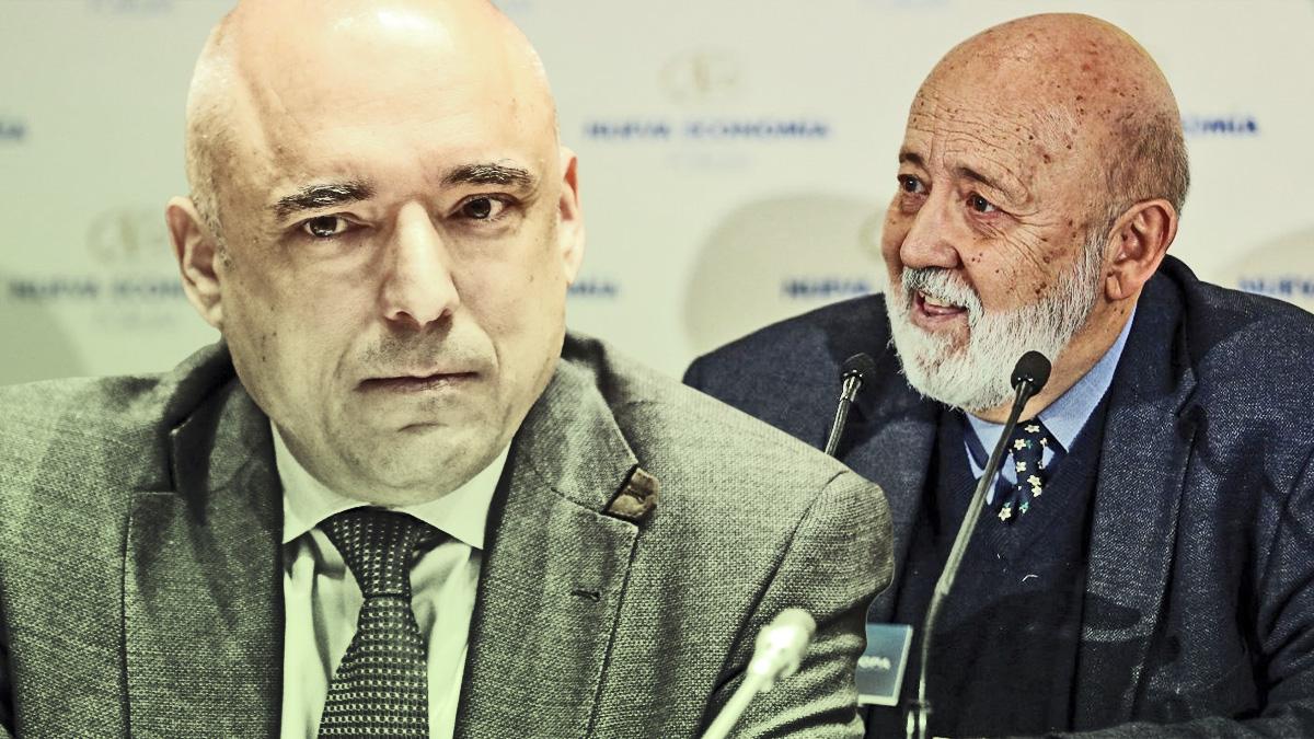 El diputado socialista Rafael Simancas y el presidente del CIS, José Félix Tezanos.
