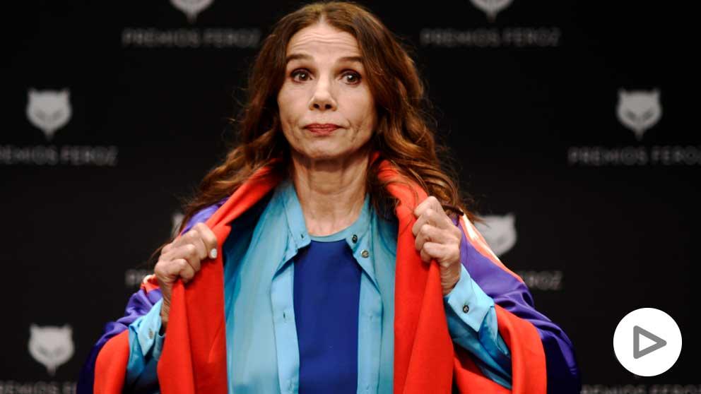 La actriz y cantante, Victoria Abril, durante la rueda de prensa sobre el Premio Feroz de Honor 2021 que se le entregará en la gala de entrega de premios. Foto: EP