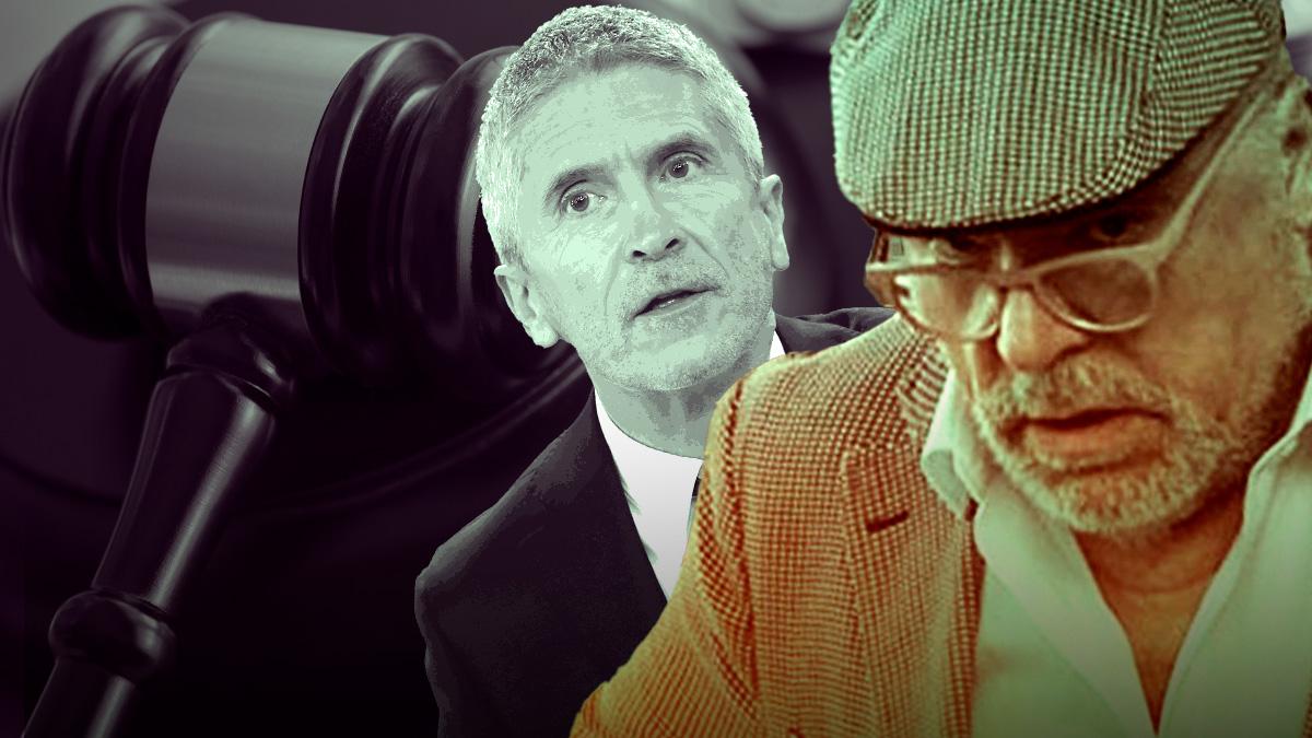 Fernando Grande-Marlaska y el ex comisario José Manuel Villarejo.