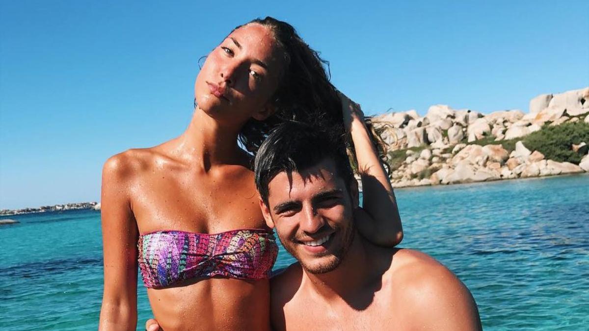 Alice Campello y Álvaro Morata.