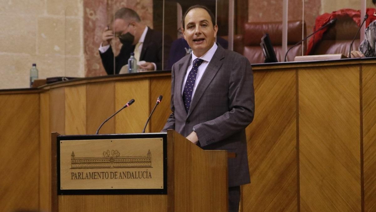 El parlamentario andaluz de Vox Francisco Ocaña.