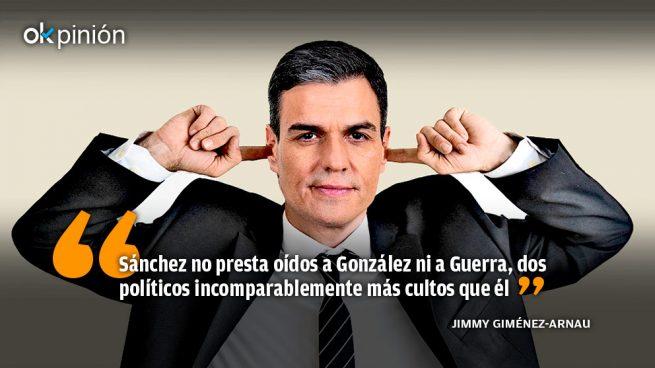 Sánchez no presta oídos a González ni a Guerra
