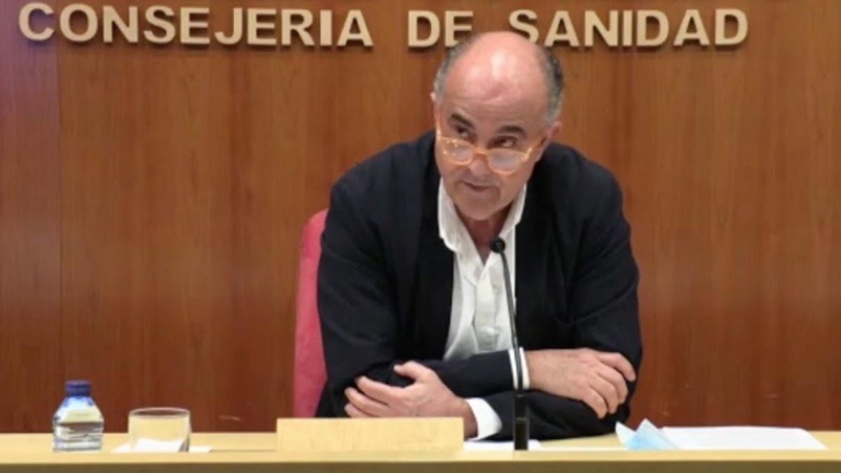 El viceconsejero de Sanidad de la Comunidad de Madrid, Antonio Zapatero.