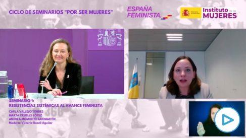 Ciclo de seminarios organizado por el Ministerio de Igualdad por el 8M.