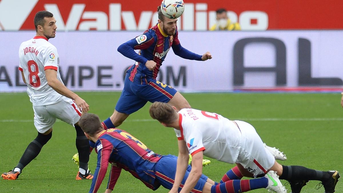 Sevilla – Barcelona: el partido de la Liga Santander, en directo. (AFP)