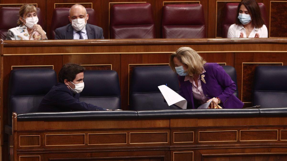 Nadia Calviño, en el Congreso