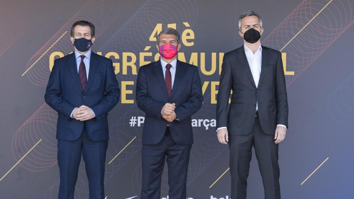 Los tres candidatos a presidir el Barcelona. (FCB)