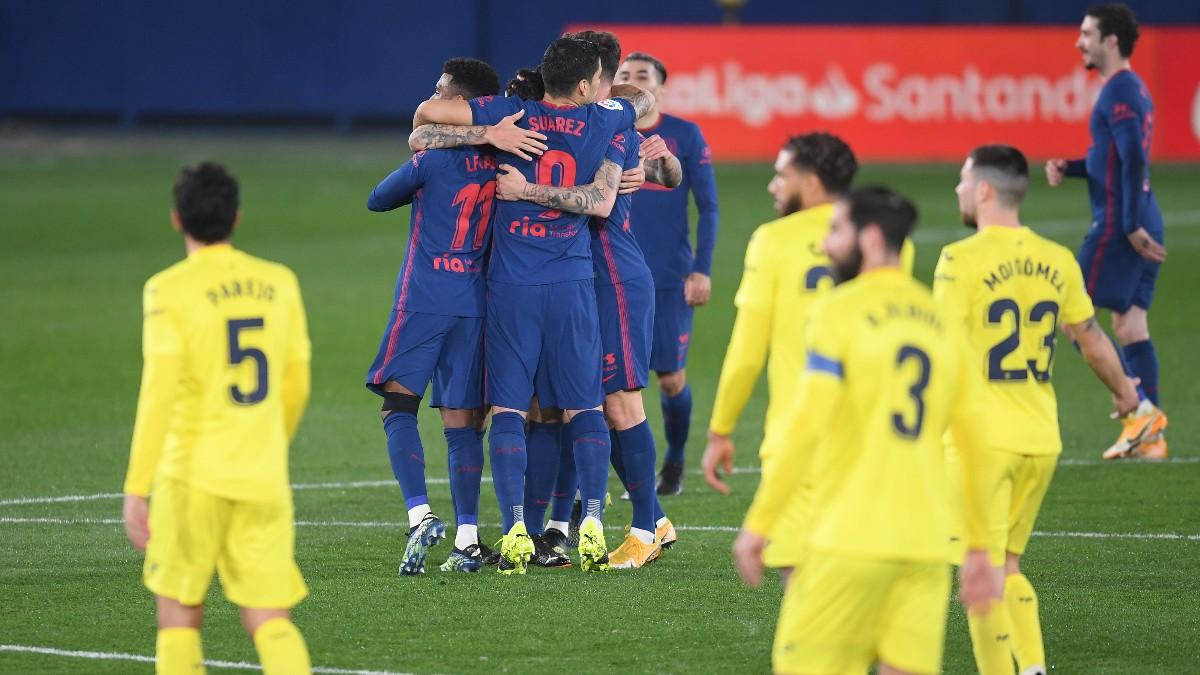Los jugadores del Atlético de Madrid celebran un gol ante el Villarreal. (Getty)