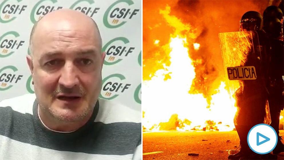 Eugenio Zambrano, agente de la Guardia Urbana de Barcelona: «Los radicales de Barcelona salen a cazar policías y han estado a punto de matar a uno».