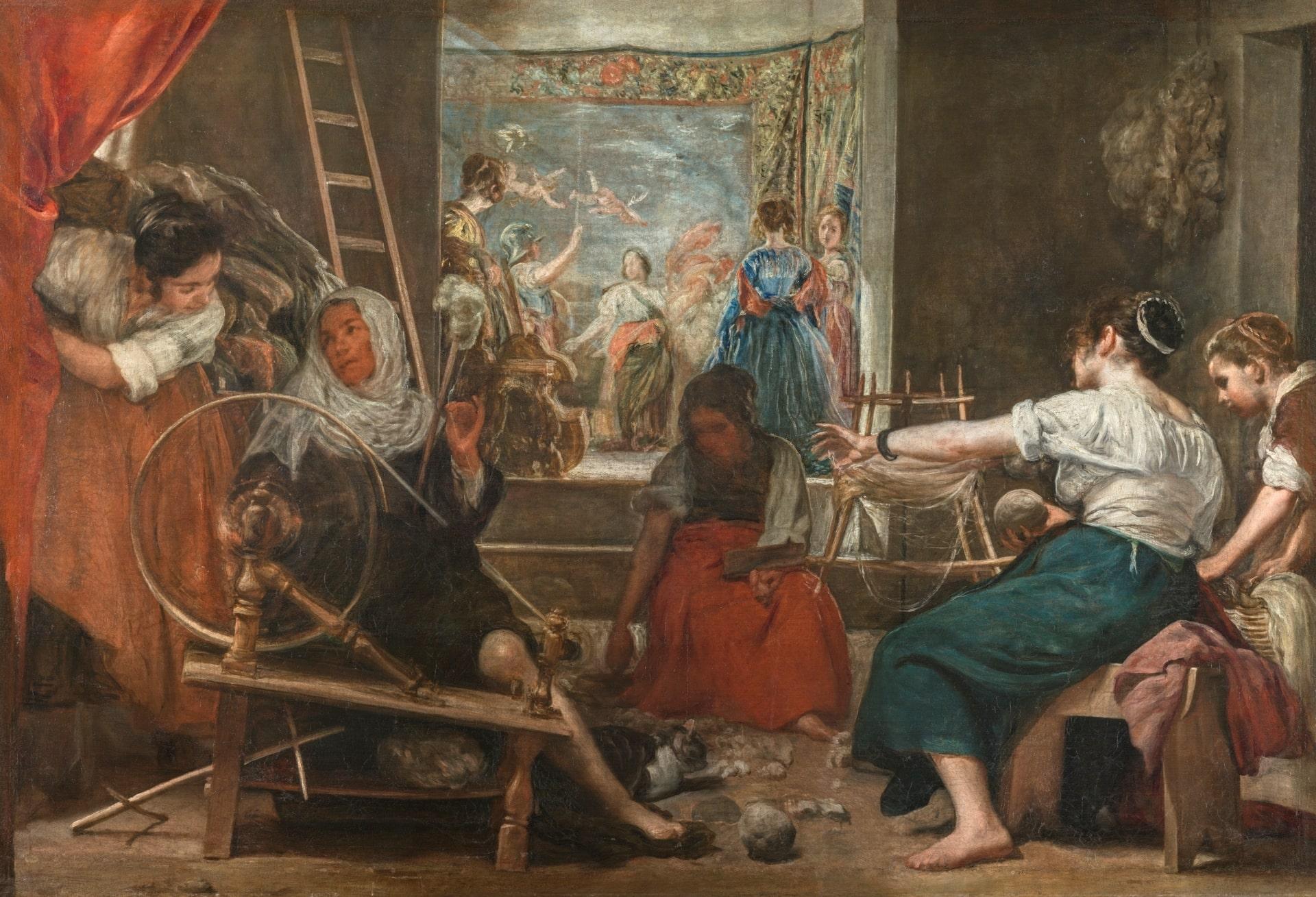 Las Hilanderas de Diego Velázquez @MuseodelPrado