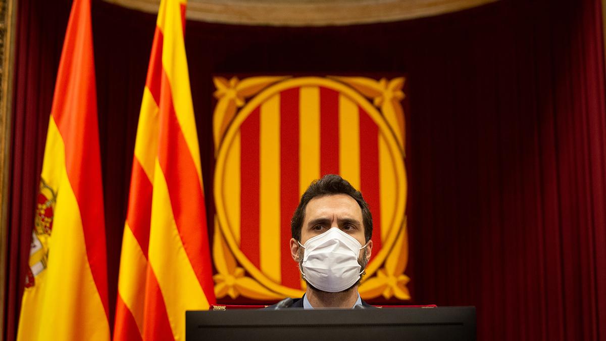 El presidente del Parlamento de Cataluña, Roger Torrent.