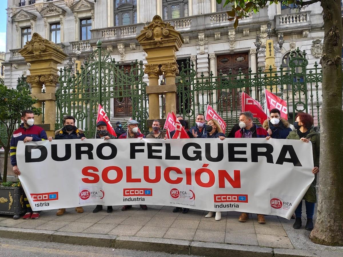 Sindicatos y trabajadores piden a la SEPI que «tome las riendas» de Duro Felguera