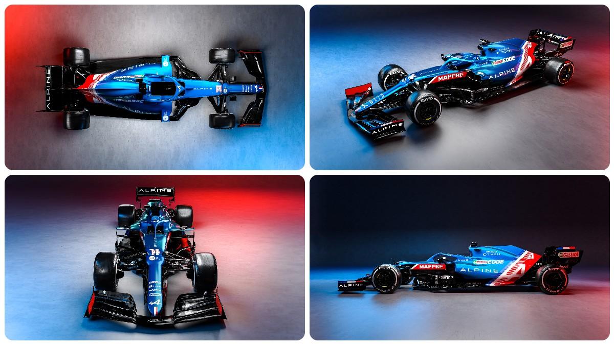 El Alpine A521, el nuevo coche de Fernando Alonso. (@AlpineF1Team)