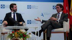 Pablo Casado y José María Aznar. Foto: EP