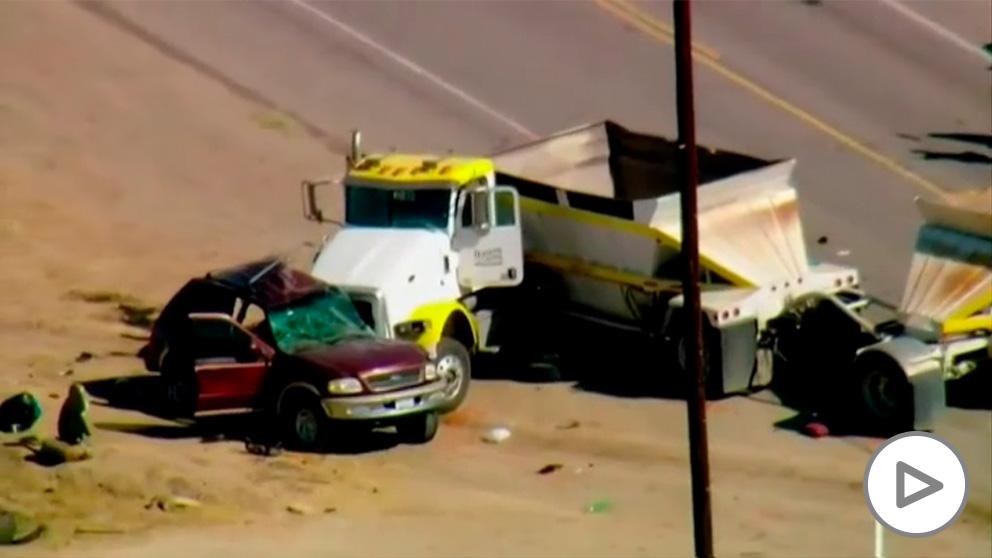 Accidente de coche en California