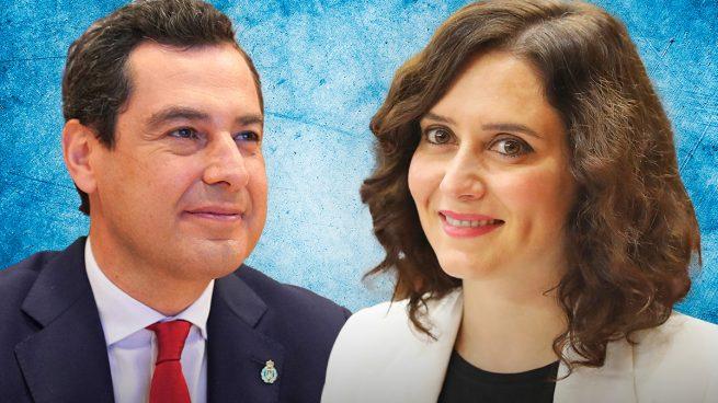 Juanma Moreno e Isabel Ayuso.