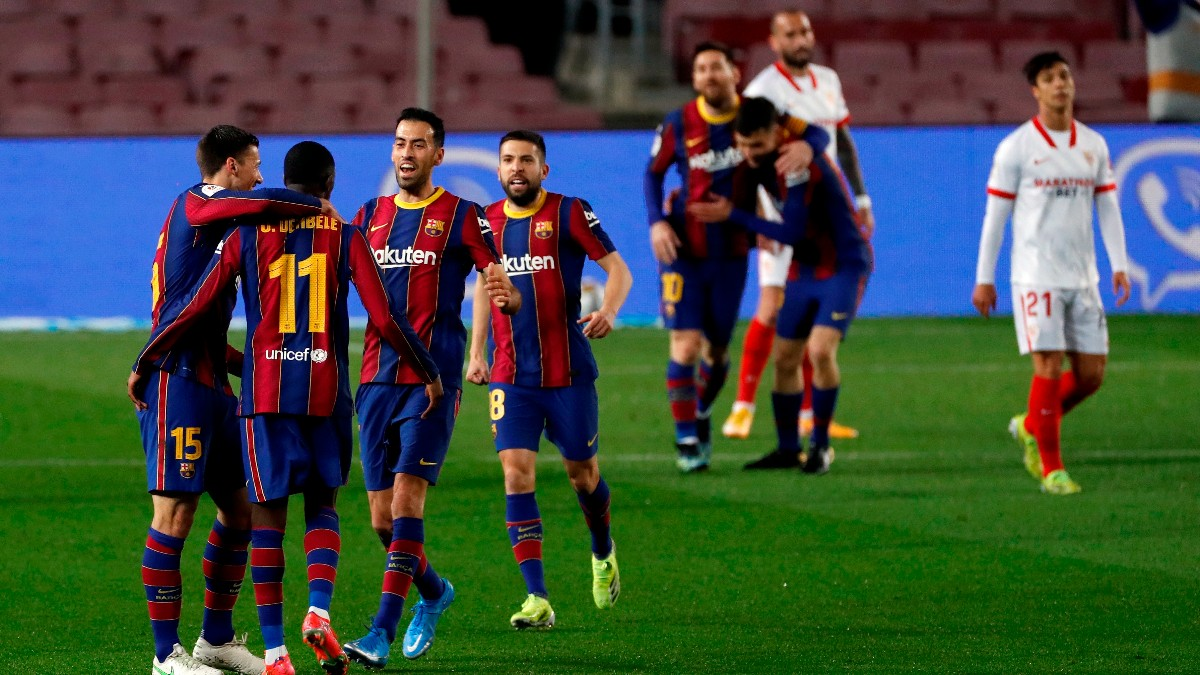 Copa del Rey 2020 -2021 | Barcelona – Sevilla, Copa del Rey 2020 -2021 en directo. (AFP)