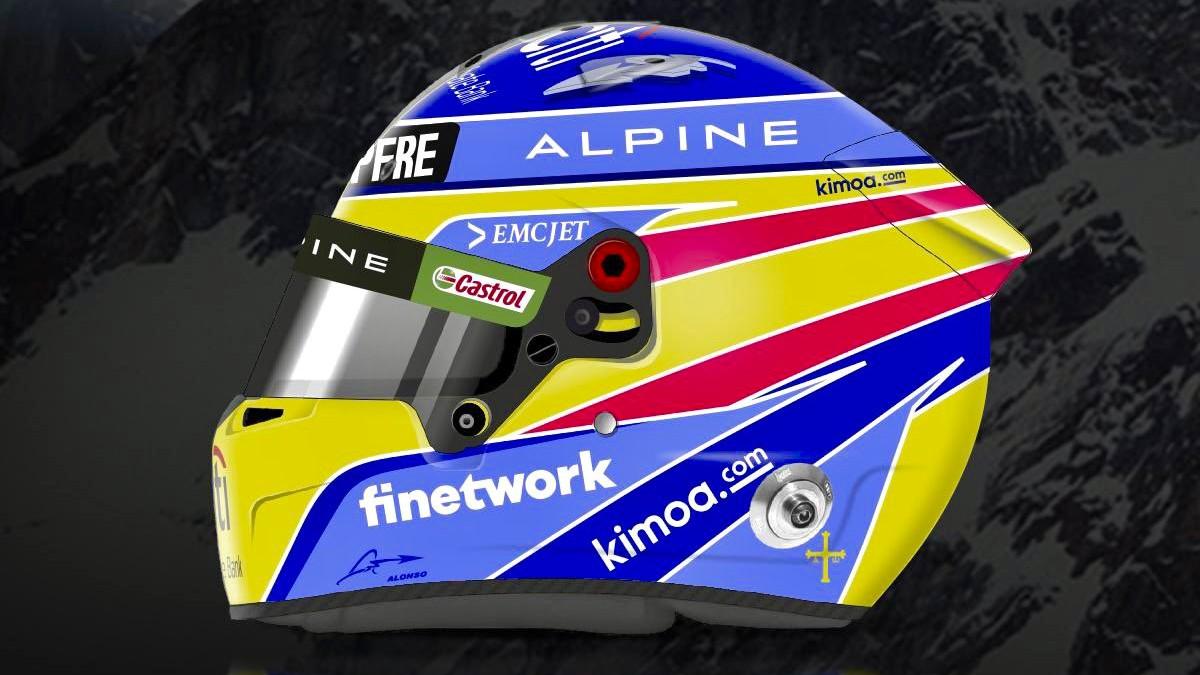 Así es el casco de Fernando Alonso para 2021.