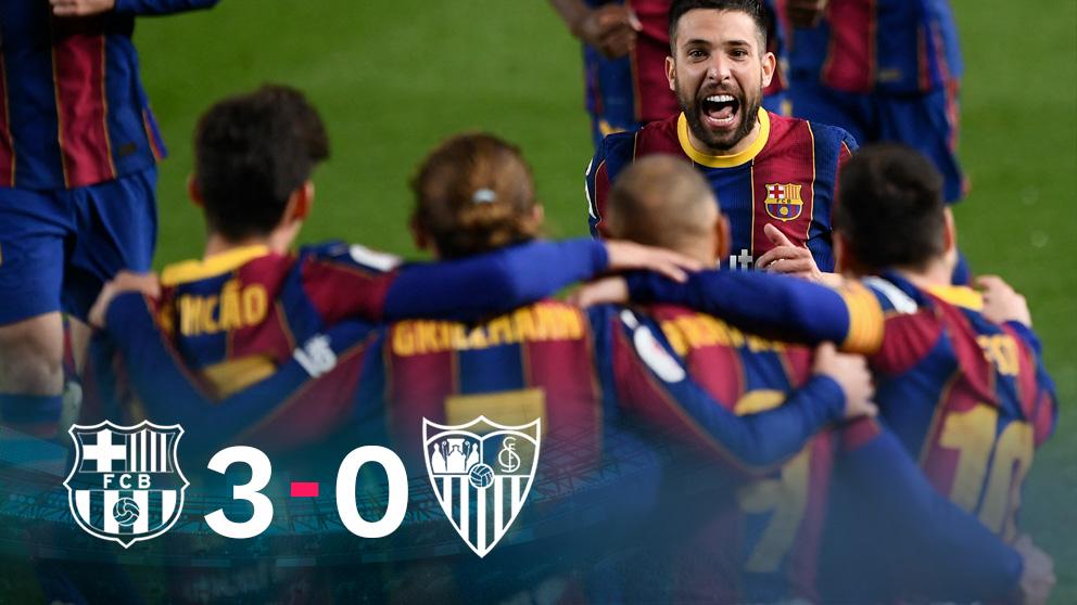 El Barcelona jugará la final de Copa tras remontar al Sevilla. (AFP)