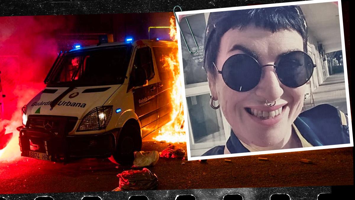 La anarquista italiana Sara Casiccia está acusada de ser la autora material del incendio del furgón policial en Barcelona con un agente dentro.