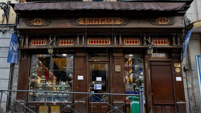 El restaurante madrileño Lhardy presenta preconcurso de acreedores por la pandemia