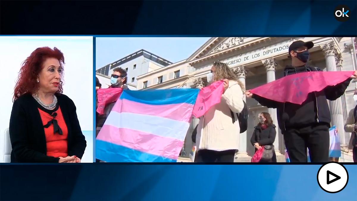 Lidia Falcón, del Partido Feminista, cree que el lobby trans de las farmacéuticas está detrás del «fanatismo» de Irene Montero