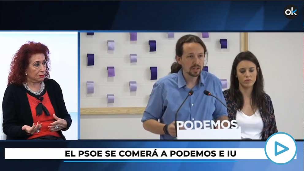 Lidia Falcón, presidenta del Partido Feminista, en HOY RESPONDE