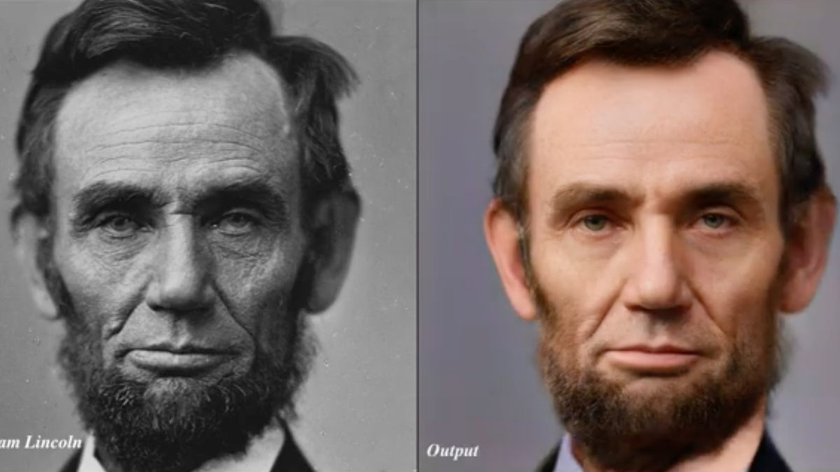 Abraham Lincoln pasado por inteligencia artificial