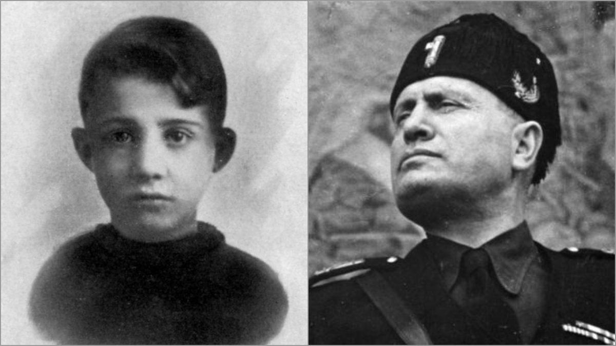 Anteo Zamboni y Benito Mussolini