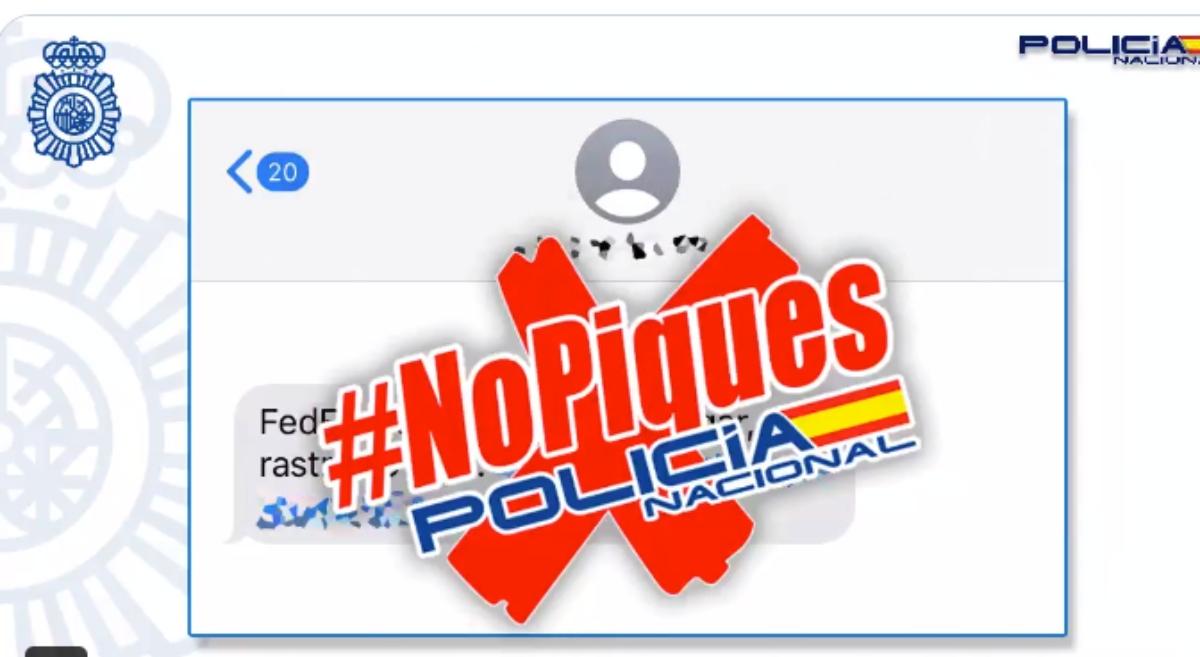 """La Policía Nacional lanza una advertencia: """"Cuidado con el SMS del falso paquete"""""""
