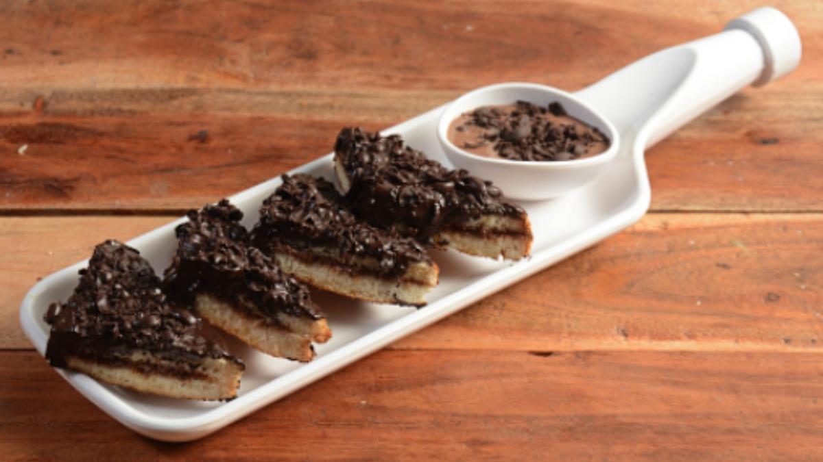 sándwich de chocolate al horno