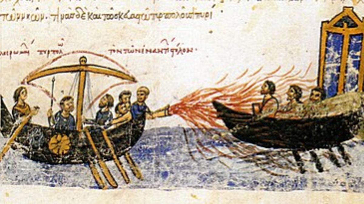 ¿Qué era el fuego griego?