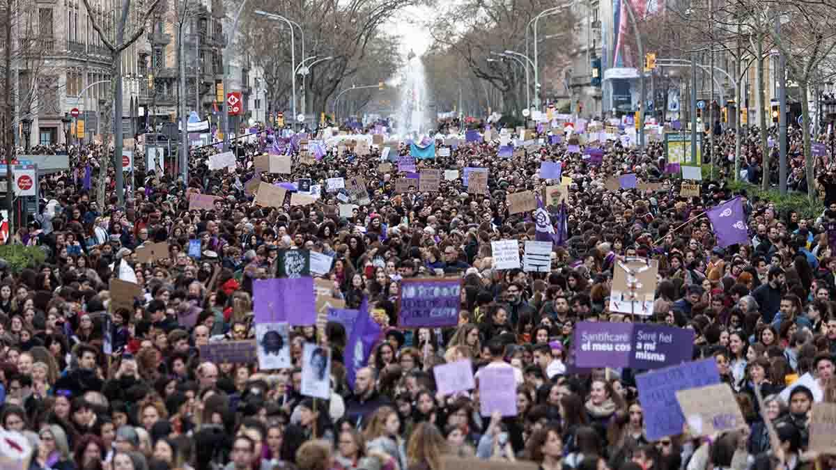 Manifestación del 8M de 2020.