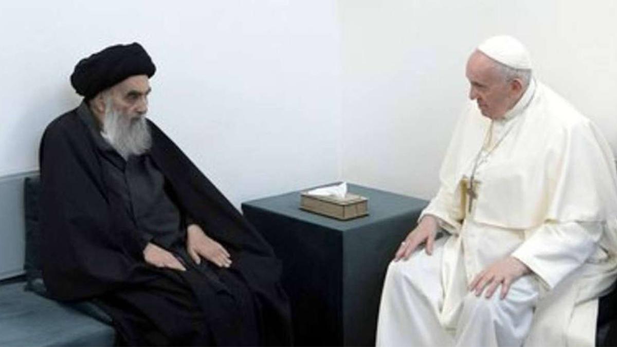El ayatolá chií Al Sistani ha recibido al Papa en un encuentro que se considera histórico.