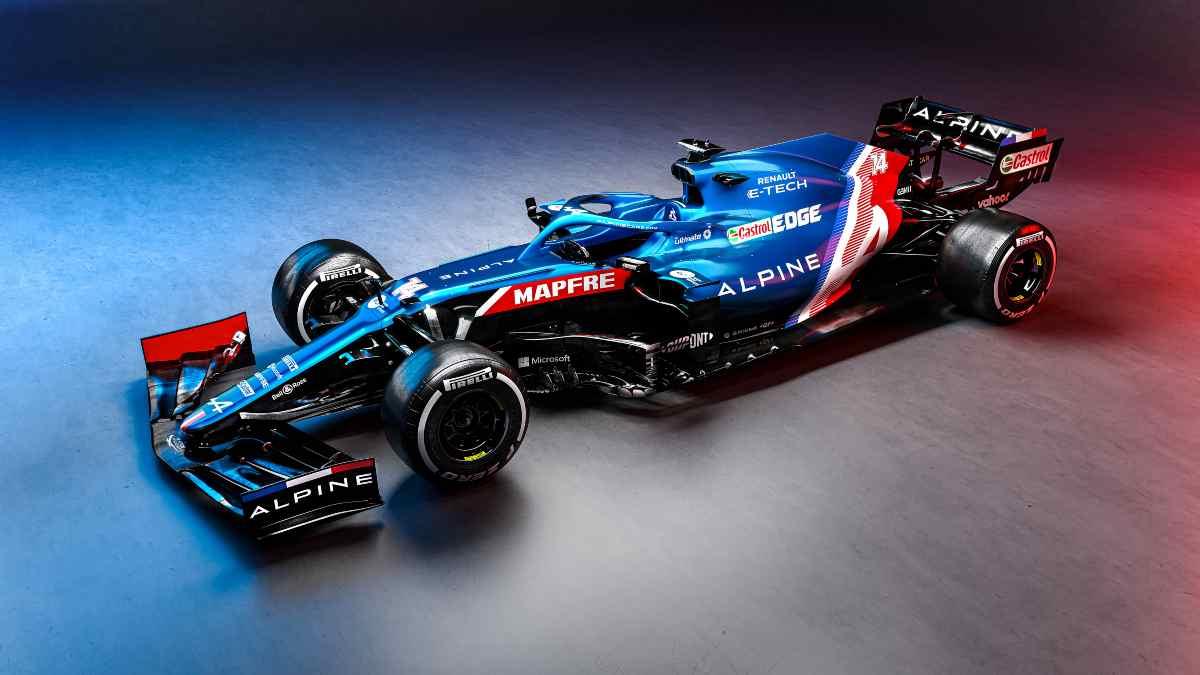 Alpine A521, el nuevo coche de Fernando Alonso. (@AlpineF1Team)