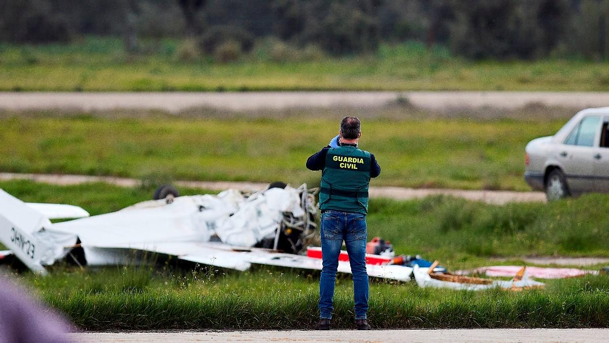 Imagen de la avioneta accidentada.