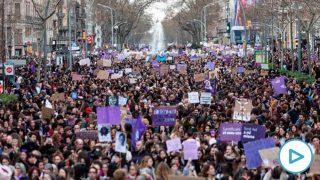 Manifestación del 8M (Día Internacional de la Mujer), en Barcelona a 8 de marzo de 2020. Foto: EP