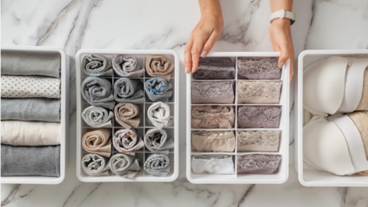 Pasos para hacer un organizador de ropa interior paso a paso
