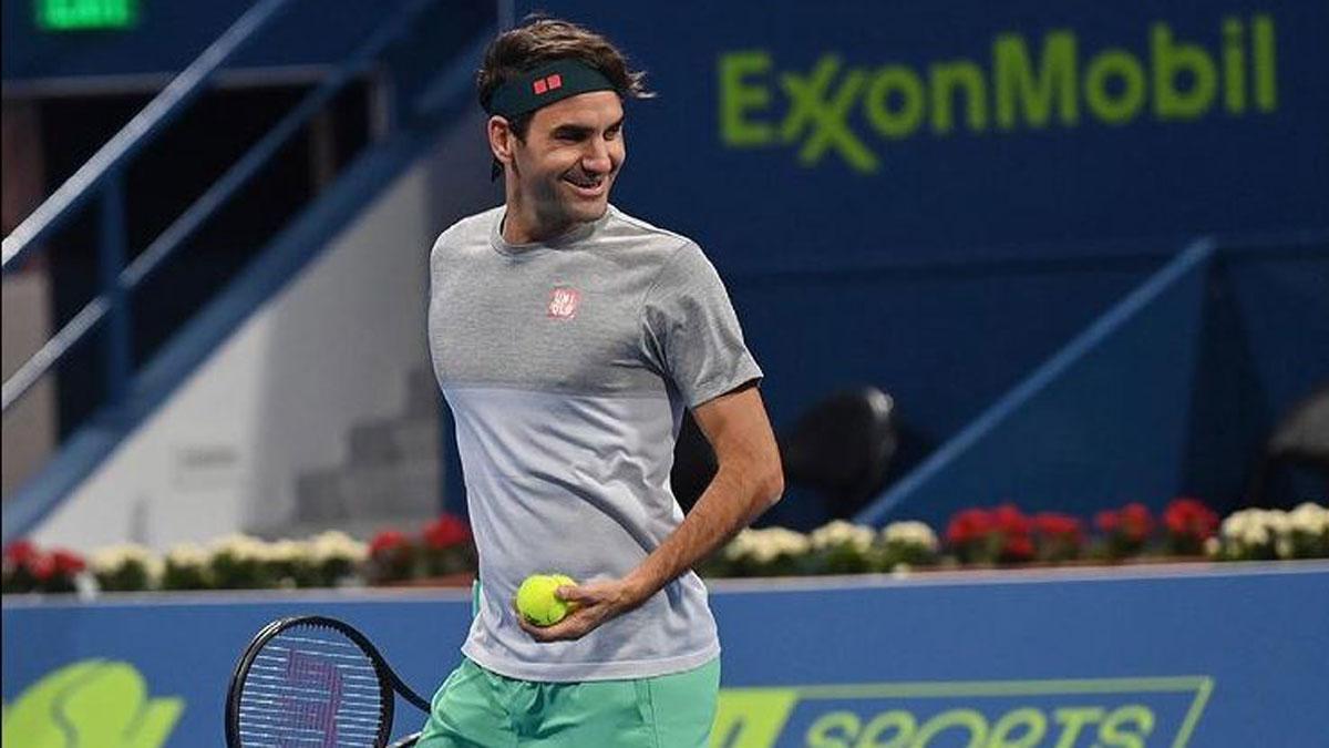 Federer reaparece esta semana en Doha (Instagram de Roger Federer)