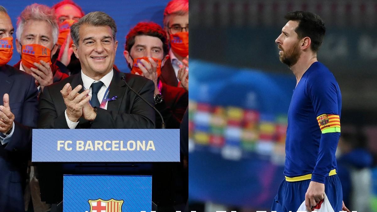 Laporta y Messi.