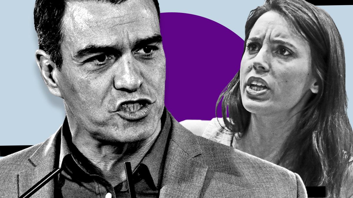 El presidente del Gobierno, Pedro Sánchez, y la ministra de Igualdad, Irene Montero. (Foto: Europa Press)