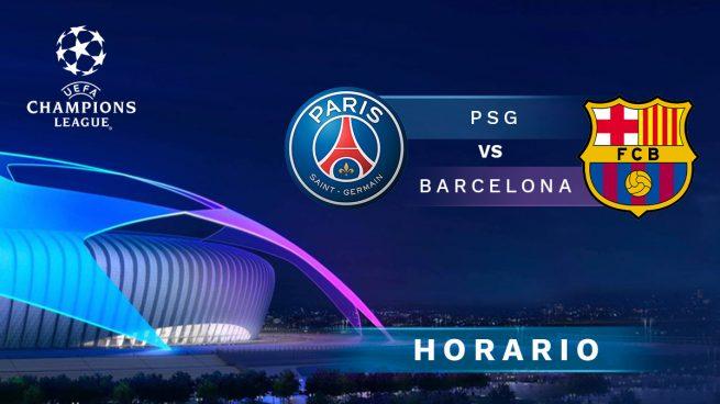 Horario y dónde ver el PSG - FC Barcelona de Champions League